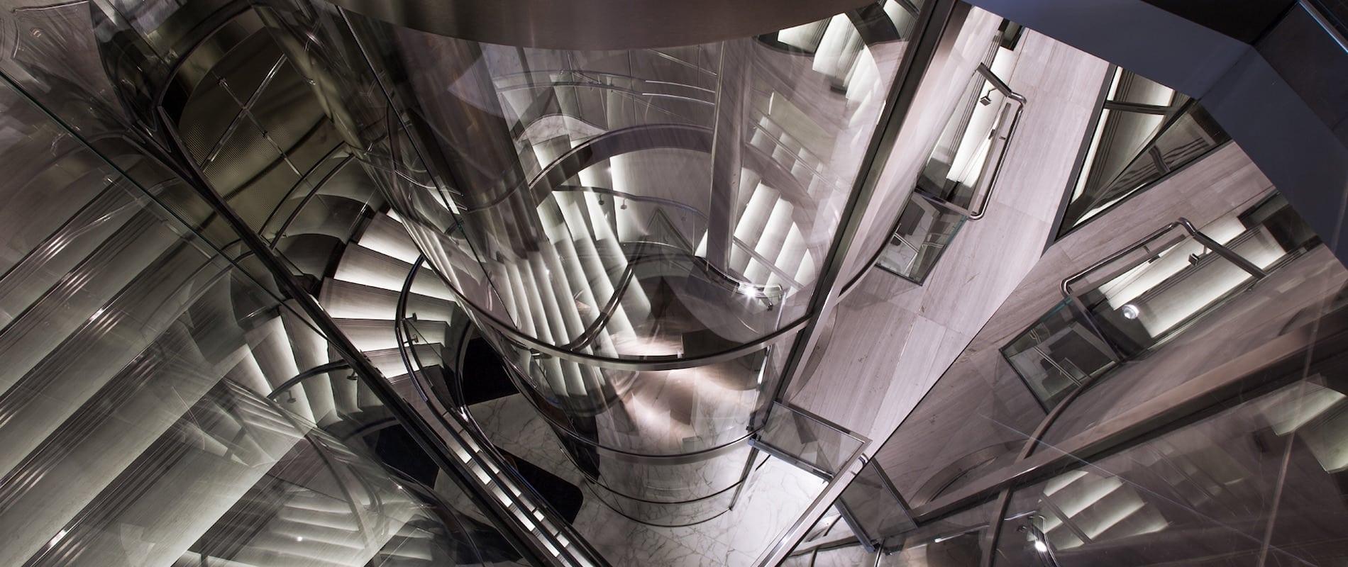 Aufzugsschacht für Glasaufzüge